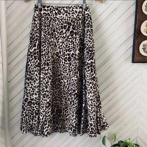 Vtg Leopard Print Skirt